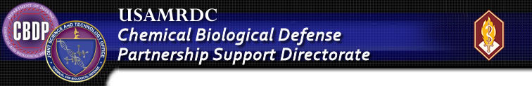 U.S. Army Medical Research and Materiel Command Chemical Biological Defense Partnership Support Directorate Banner